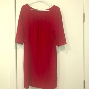 Cute red dress! Perfect for the holidays!!